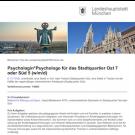 Psychologin*Psychologe für das Stadtquartier Ost 7 oder Süd 5 (w/m/d)