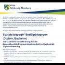 Sozialpädagogin*Sozialpädagogen (m/w/d), (Diplom/Bachelor)