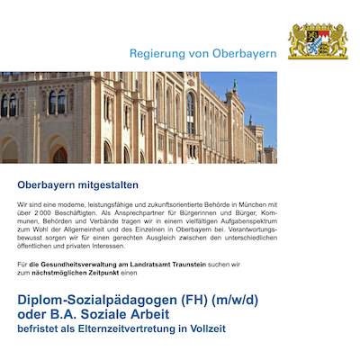 Diplom-Sozialpädagogen (FH) (m/w/d) oder B.A. Soziale Arbeit