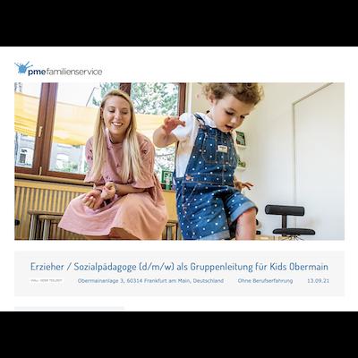 Erzieher / Sozialpädagoge (d/m/w) als Gruppenleitung für Kids Obermain