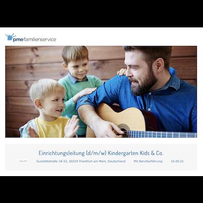 Einrichtungsleitung (d/m/w) Kindergarten Kids & Co.