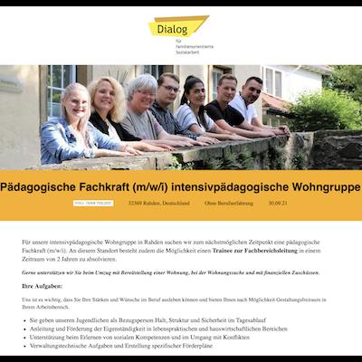 Pädagogische Fachkraft (m/w/i) intensivpädagogische Wohngruppe