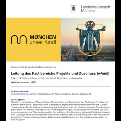 Leitung des Fachbereichs Projekte und Zuschuss (w/m/d)