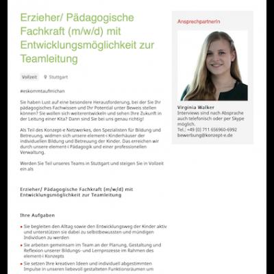 Erzieher/ Pädagogische Fachkraft (m/w/d) mit Entwicklungsmöglichkeit zur Teamleitung