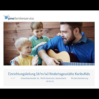 Einrichtungsleitung (d/m/w) Kindertagesstätte KaribuKids