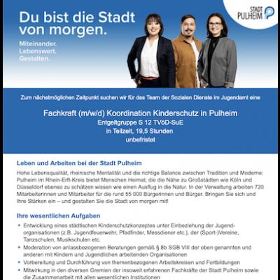 Fachkraft (m/w/d) Koordination Kinderschutz in Pulheim