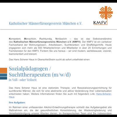 Sozialpädagogen / Suchttherapeuten (m/w/d)