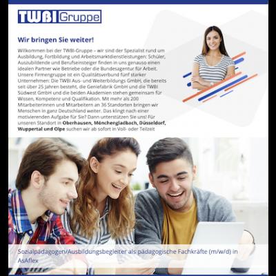 Sozialpädagogen/Ausbildungsbegleiter als pädagogische Fachkräfte (m/w/d) in AsAflex