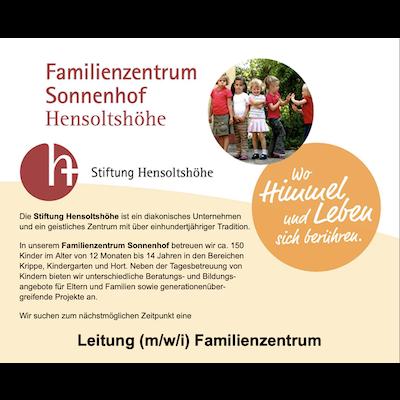 Leitung (m/w/i) Familienzentrum